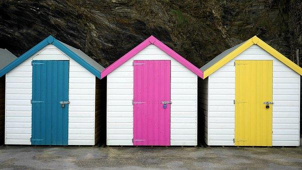 Beach hut free pictures on pixabay for Cabine de plage en bois pour jardin