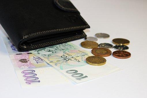 Geld, Brieftasche, Banknoten