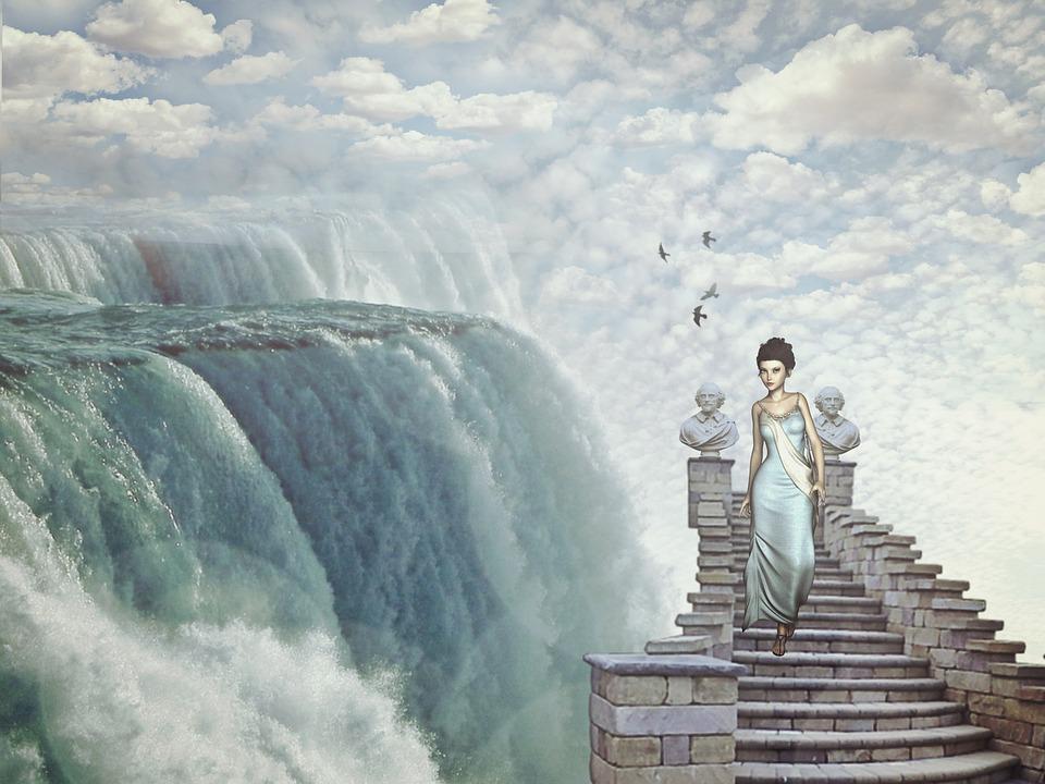 waterfall fantasy dream world  u00b7 free image on pixabay