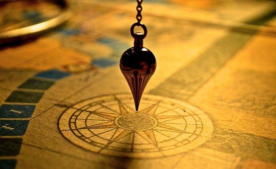 Pendel, Karte, Kompass, Gelb, Anleitung