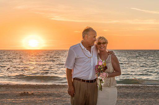 Beach wedding images pixabay download free pictures beach wedding happy couple sunset ocean be junglespirit Gallery