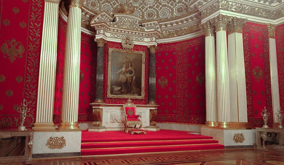Rosja, Pałac, Tron, Car, Pouchkine