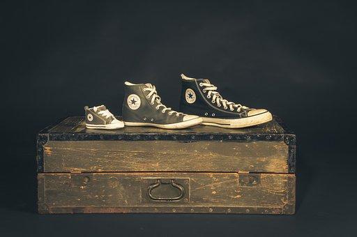 コンバース, スニーカー, チャック, 靴, スポーツの靴, 靴ひも