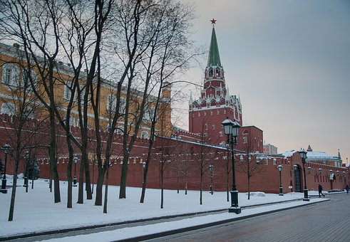Moscow, Wall, Kremlin, Tower