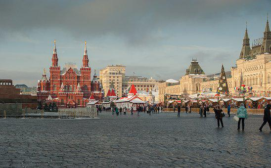 Moscow, Red Square, Goum, Mausoleum