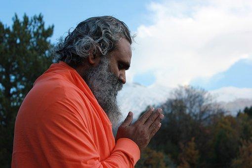 Namaste Indian Master Mountain Meditation