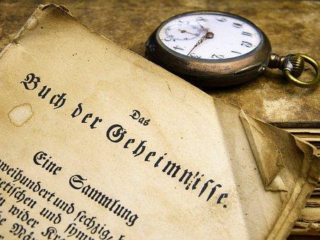 本, 古い, フォント, 読み取り, 使用, アンティーク, 古書, 懐中時計