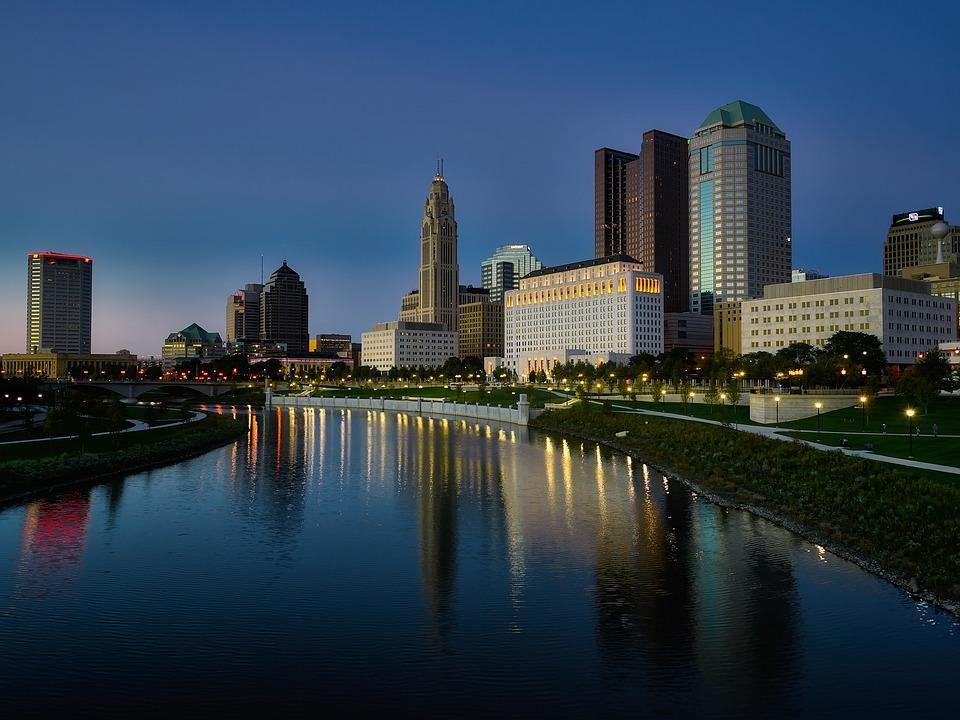 コロンバス, オハイオ州, 市, 都市, 建物, 高層ビル, スカイライン, ダウンタウン, 都市の景観