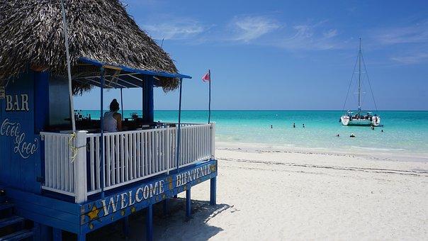 Cuba, Cayo Coco, Playa Pilar, Beach, Bar