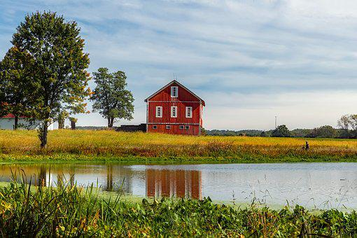Ohio, Farm, Agriculture, Barn, Red, Pond - Red Barn Images · Pixabay · Download Free Pictures