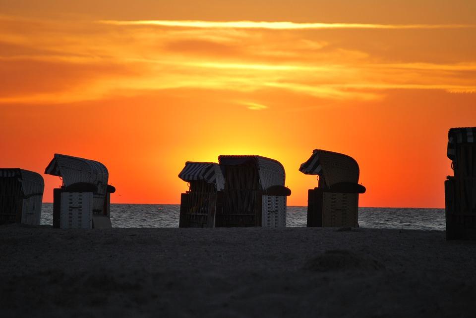 Strandkorb sonnenuntergang  Ostsee Sonnenuntergang · Kostenloses Foto auf Pixabay