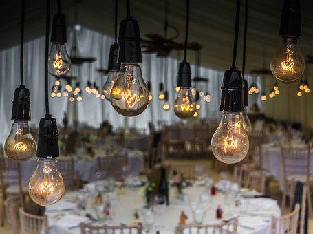 結婚式, 球根, 照明, 光, 祝賀, 装飾, 結婚, 祝賀会, ロマンチック