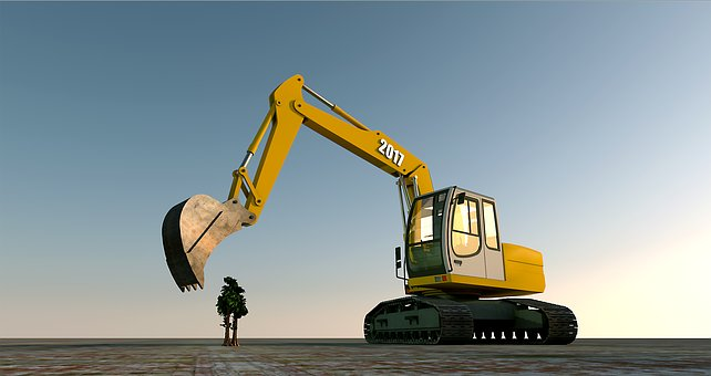 Excavators, Blade, Construction Machine