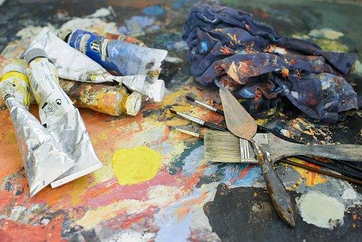 Peintre, Peinture, Artiste, Brosse