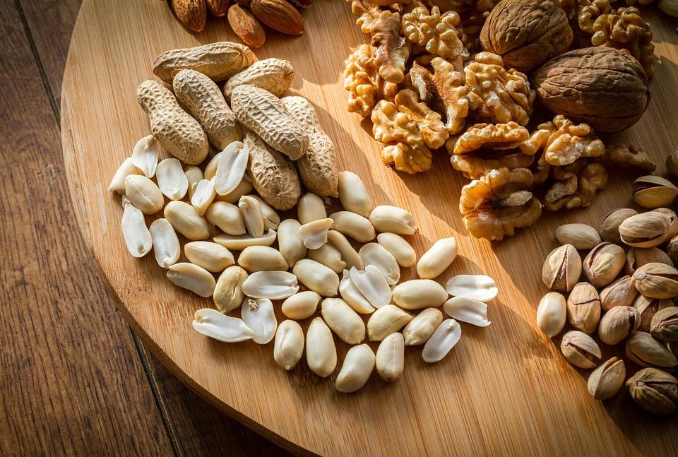 Gemischt, Nüsse, Auswahl, Brown, Schale, Lebensmittel
