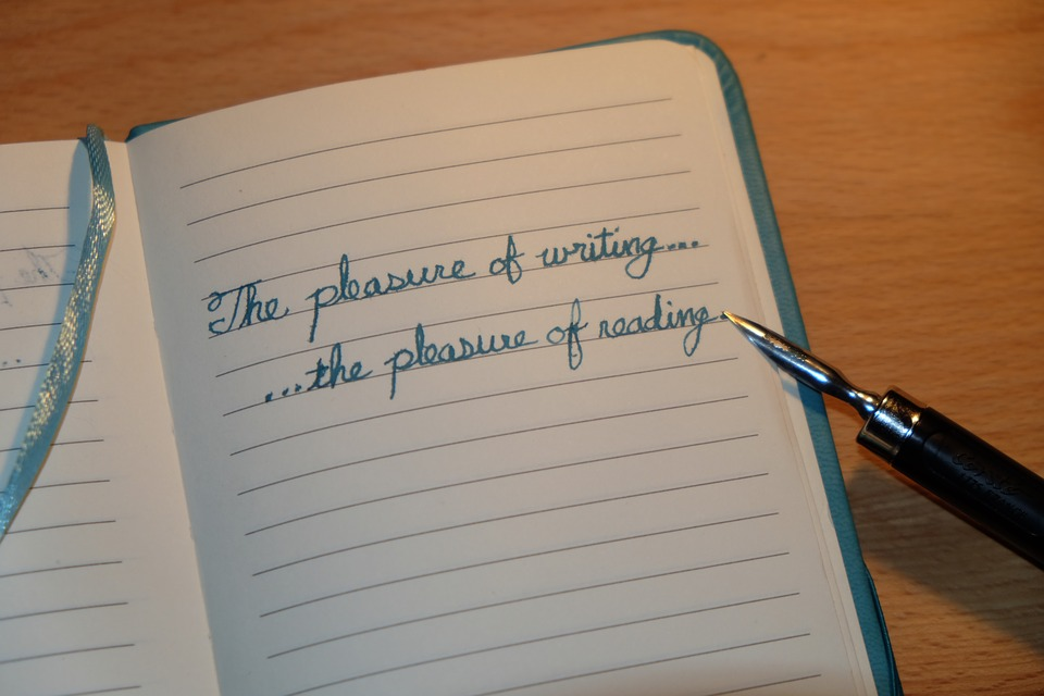 Handwriting Old Writing Instrument Quil Notebook