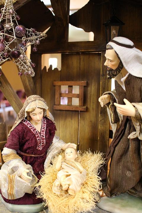 nativity scene manger jesus free photo on pixabay
