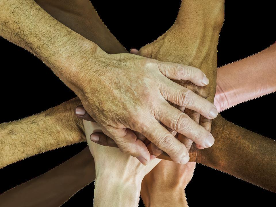 Hände, Teamarbeit, Teamgeist, Aufheitern, Team