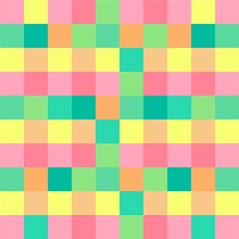 Checkerboard Pastel Squares Geometric Text