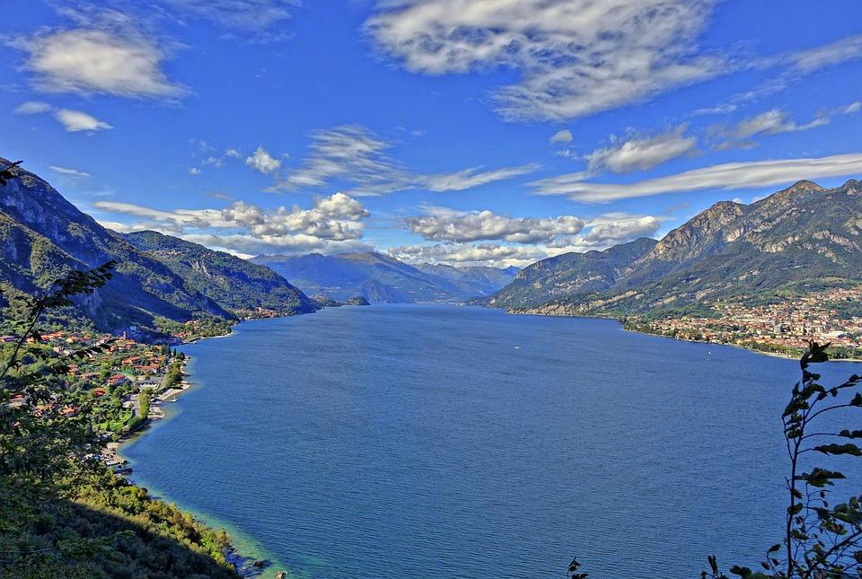 Panorama, Lago Di Como, Lecco, Lombardia, Italia, Acqua