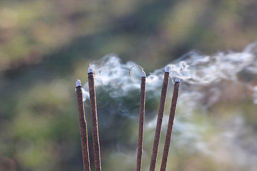 Fumer, Coup, Encens, Bâtons, Encens