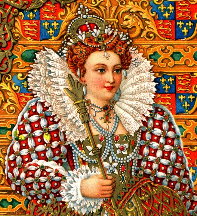 Reine, Elizabeth, La Reine Elizabeth, Vintage, Tudor