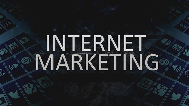 A dark image with the words INTERNET MARKETING to the question does affiliate marketing need forcibly an online presence