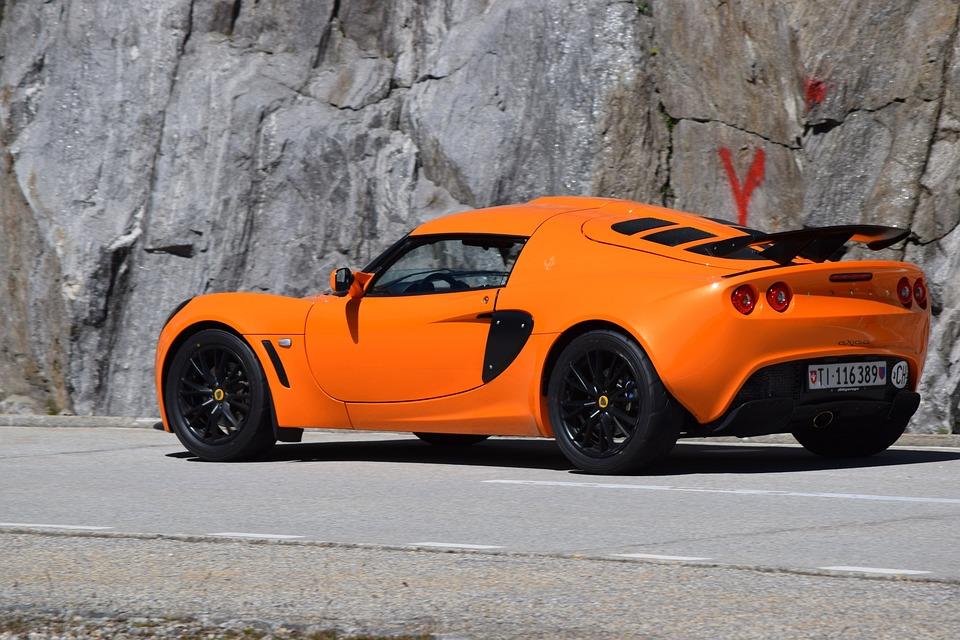 Car Sporty Lotus Auto Orange Wheels Switzerland