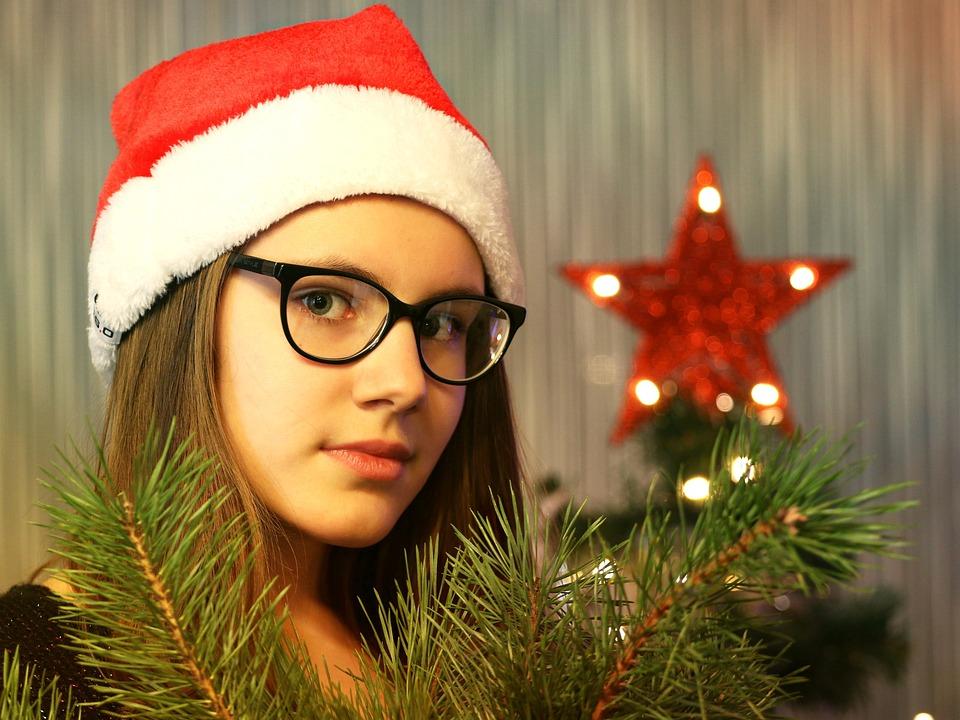 New Year'S Eve, Santa Claus, Christmas Tree, Holiday