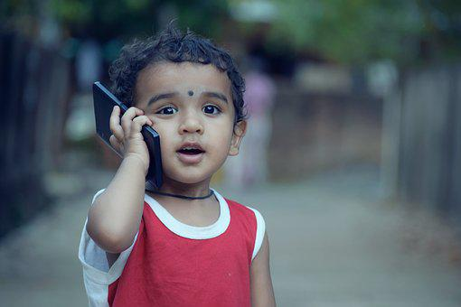 Boy, Kid, Child, Phone, Calling, Mobile