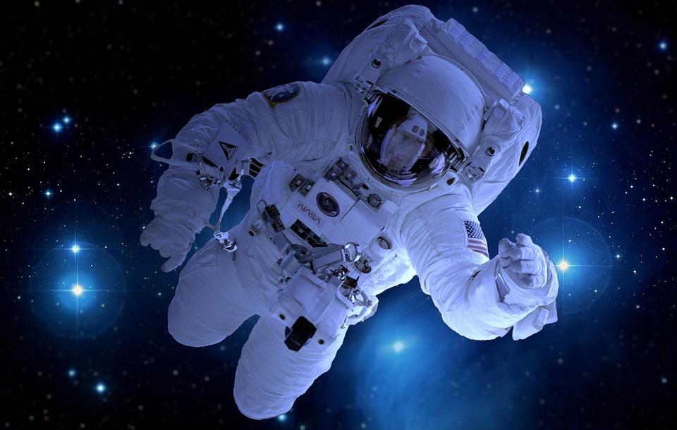 Astronauta, Astronomia, Satelita, Księżyc, Do Przodu