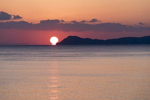 初日の出, 海, 夜明け, 紀伊水道, 瀬戸内海, 太平洋