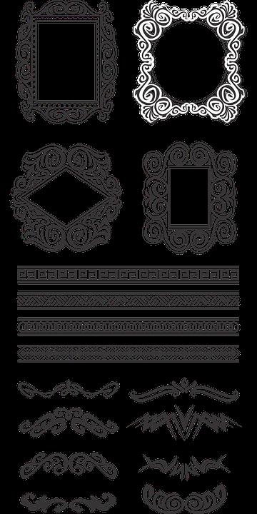 Marcos Arabescos Bordes · Gráficos vectoriales gratis en Pixabay