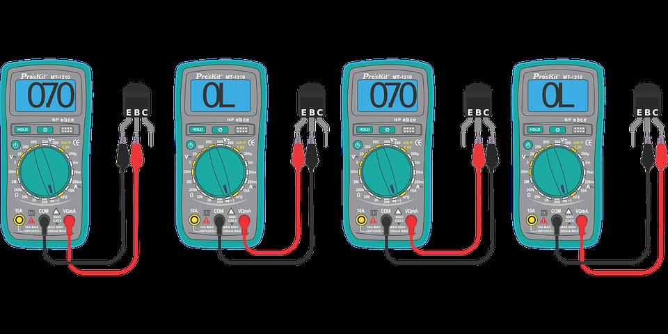 Comprobación De Transistores, Multímetro Digital