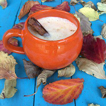 Autumn, Leaves, Foliage, Latte, Drink