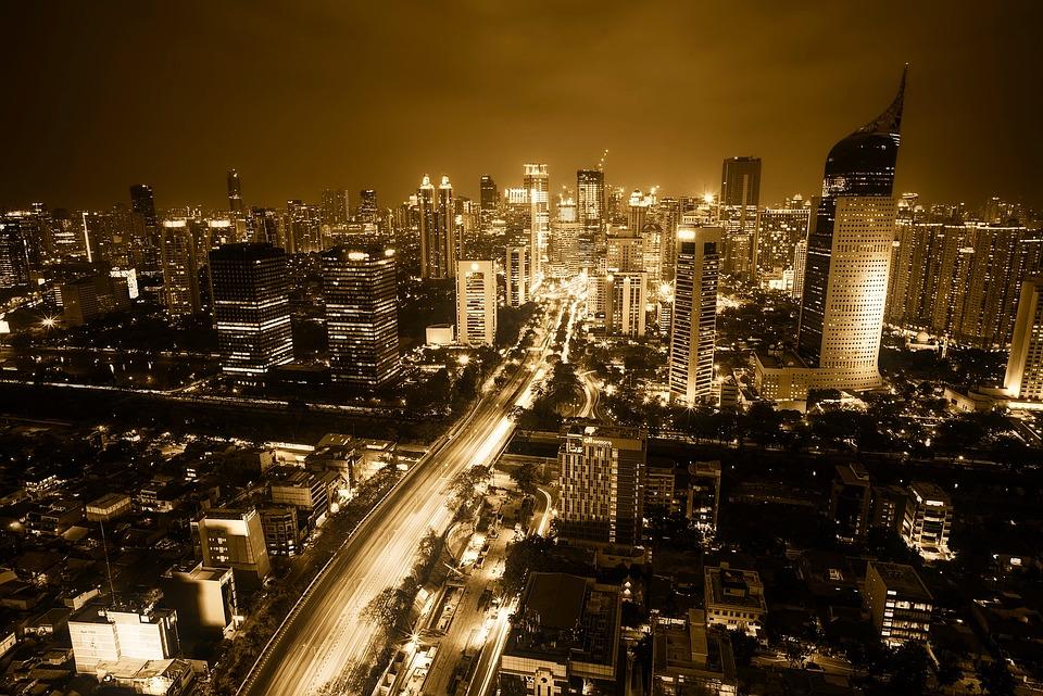 Jakarta, Indonezja, City, Miejskich, Cityscape, Centrum