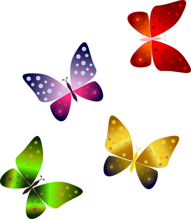 Farfalle, Farfalla Rossa, Farfalla Verde, Viola