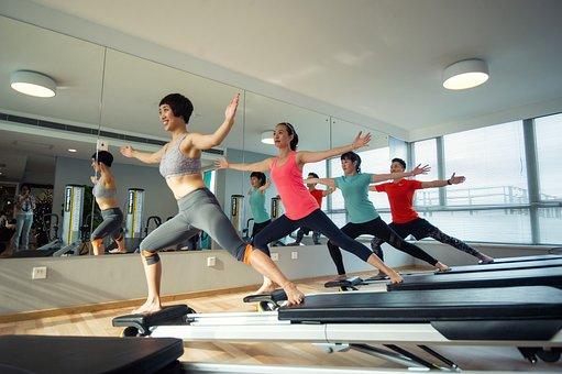 健身, 健康, 快乐, 运动, 训练, 瑜伽, 普拉提