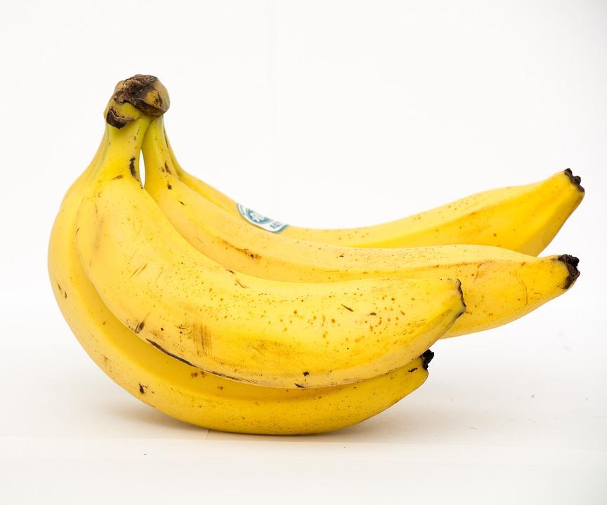 Plátano, Buena Comida, Saludable, Fruta, Amarillo