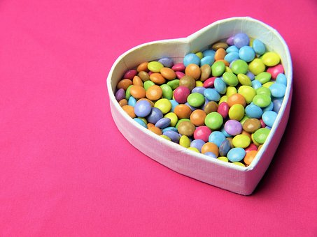 Heart, Smarties, Pink, Sweetness,124 Free images of Chocolate Day Related Images: Chocolate Love Heart  Valentine's Day  Candy  Hot Chocolate  Romantic  Romance  Valentine  Sweet