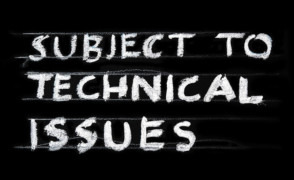Problem, Technical, Issues, Technology, Error, Delay