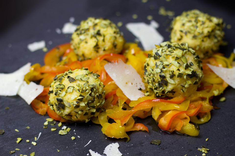 Légumes, Polenta, Paprika, Fromage, Parmesan, Boules
