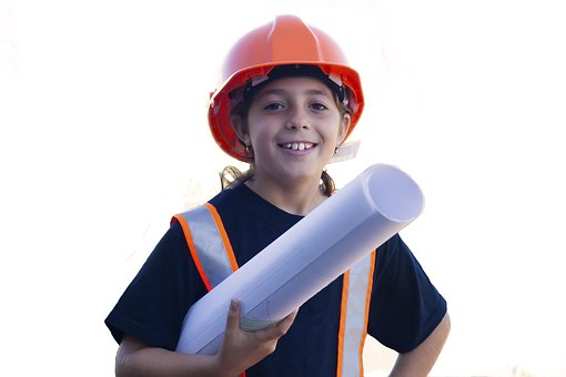 Trabajador Yarda De La Seguridad Niña Topó