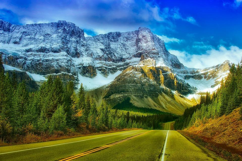 Banff, Kanada, Park Narodowy, Góry, Niebo, Chmury