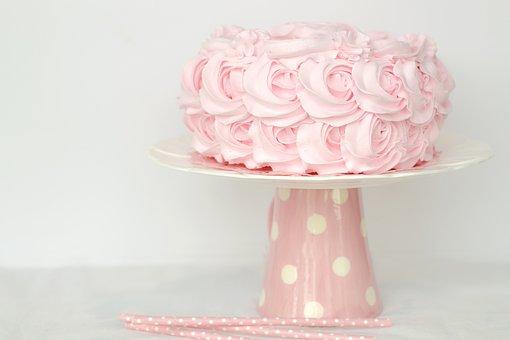Cake, Sweet, Pink, Birthday, Valentine