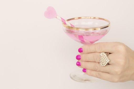 バレンタインの日, バレンタイン, シャンパン, 歓声, ピンク