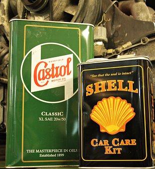 エンジン ブロック, エンジン オイル, 油, デコ, ワークショップ