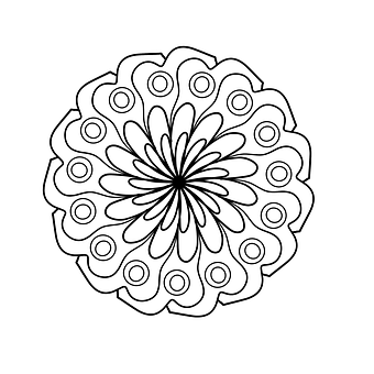 Book Flowers Forest Mandala Coloring Page For Adults