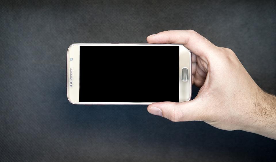 Smartphone, Pantalla, Horizontales, Android, Tecnología