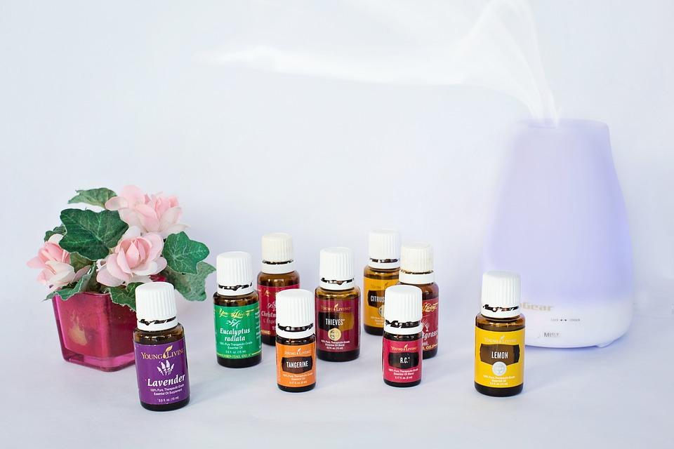 エッセンシャルオイル, 拡散器, アロマセラピー, 石油, 香り, 療法, スパ, 緩和, 健康, 芳香族